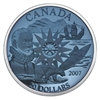 2007 Canada $20 International Polar Year Sterling Silver Plasma Coin
