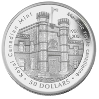 RDC 2008 Canada $50 Royal Canadian Mint Centennial 5oz. Fine Silver (No Tax) - Impaired