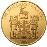 2008 Canada $300 14K Newfoundland and Labrador Coat of Arms Gold (missing sleeve)