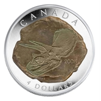 1999 2008 Canada $4 Dinosaur Collection - Triceratops Fine Silver (No Tax) Impaired