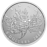 2020 Canada $5 Moments to Hold - 40th Ann. of the National Anthem Act Fine Silver (No Tax)