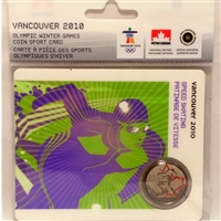 2009 Canada 25-cent Speed Skating - Petro-Canada Vancouver Olympics Card