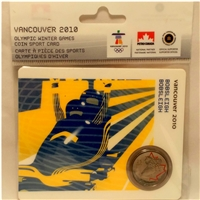 2008 Canada 25-cent Bobsleigh - Petro-Canada Vancouver Olympics Card