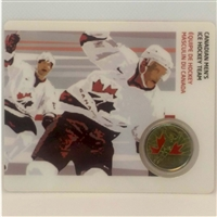 2009 Canada 25-cent Men's Ice Hockey - Petro-Canada Vancouver Olympics Card 12/15