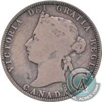 1871H Obv. 2 Canada 25-cents Very Good (VG-8) $