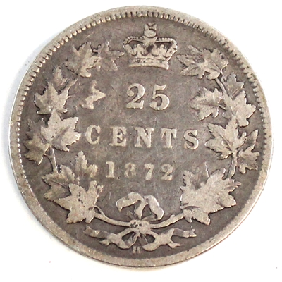 1872H Canada 25-cents Good (G-4)
