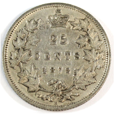 1872H Canada 25-cents Very Fine (VF-20) $
