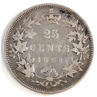 1882H Canada 25-cents F-VF (F-15) $