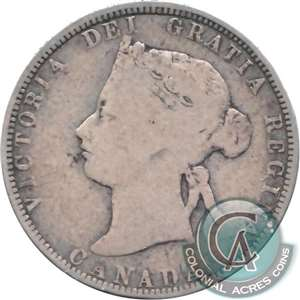 1892 Canada 25-cents G-VG (G-6)
