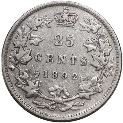 1892 Canada 25-cents Very Fine (VF-20) $