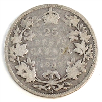 1902H Canada 25-cents Good (G-4)