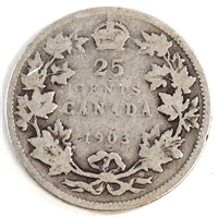1903 Canada 25-cents Good (G-4)