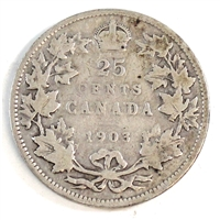 1903 Canada 25-cents G-VG (G-6)