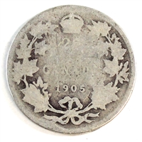 1905 Canada 25-cents Filler