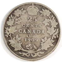 1909 Canada 25-cents Good (G-4)
