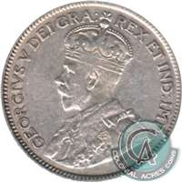 1921 Canada 25-cents F-VF (F-15)