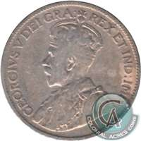 1921 Canada 25-cents VG-F (VG-10)