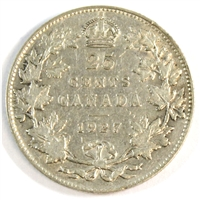 1927 Canada 25-cents F-VF (F-15)
