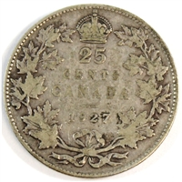 1927 Canada 25-cents VG-F (VG-10) $