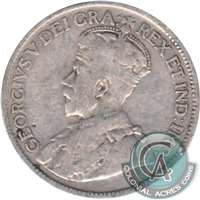 1933 Canada 25-cents Very Good (VG-8)