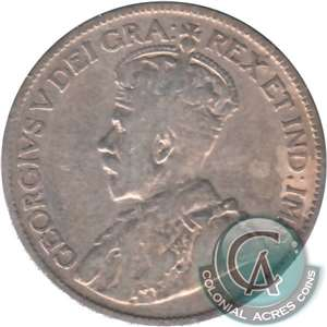 1934 Canada 25-cents VG-F (VG-10)
