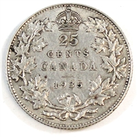 1935 Canada 25-cents Extra Fine (EF-40)