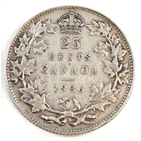 1936 Canada 25-cents Very Fine (VF-20)