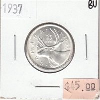1937 Canada 25-cents Brilliant Uncirculated (MS-63)
