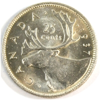 1937 Canada 25-cents Choice Brilliant Uncirculated (MS-64)