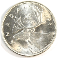 1941 Canada 25-cents Brilliant Uncirculated (MS-63) $