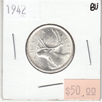 1942 Canada 25-cents Brilliant Uncirculated (MS-63)