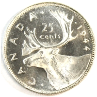 1944 Canada 25-cents Brilliant Uncirculated (MS-63) $