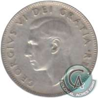 1948 Canada 25-cents Circulated