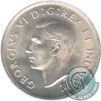 1949 Canada 25-cents Choice Brilliant Uncirculated (MS-64) $