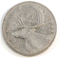 1953 Large Date NSS Canada 25-cents Circulated