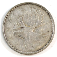 1954 Canada 25-cents Circulated
