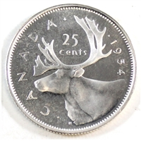 1954 Canada 25-cents Proof Like