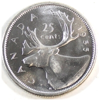 1955 Canada 25-cents Brilliant Uncirculated (MS-63)