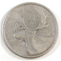1955 Canada 25-cents Circulated