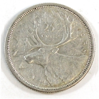 1956 Canada 25-cents Circulated