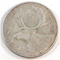 1958 Canada 25-cents Circulated