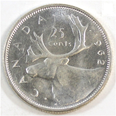 1962 Canada 25-cents Circulated