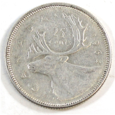 1964 Canada 25-cents Circulated