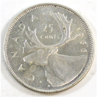 1966 Canada 25-cents Circulated