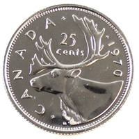 1970 Canada 25-cents Proof Like