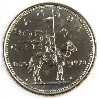 1973 Canada RCMP 25-cents Brilliant Uncirculated (MS-63)