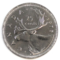 1975 Canada 25-cents Brilliant Uncirculated (MS-63)