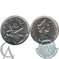 1978 Small Denticles Canada 25-cents Brilliant Uncirculated (MS-63)