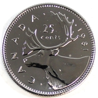 1980 Canada 25-cents Proof Like