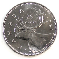 1981 Canada 25-cents Brilliant Uncirculated (MS-63)